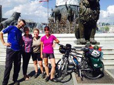 meeting Polish cyclists