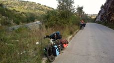 cycling next to the Highway