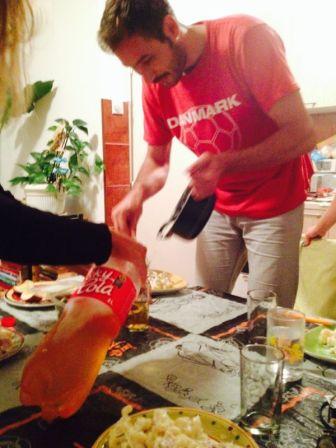 thanks for prepraring dinner for us :)