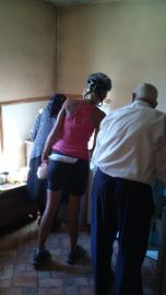 buying cheese from an old couple in a small house along the road