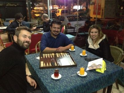 Training session in Backgammon!