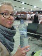 The Rajec Slivovice bottle made it to Dubai :) with water :(