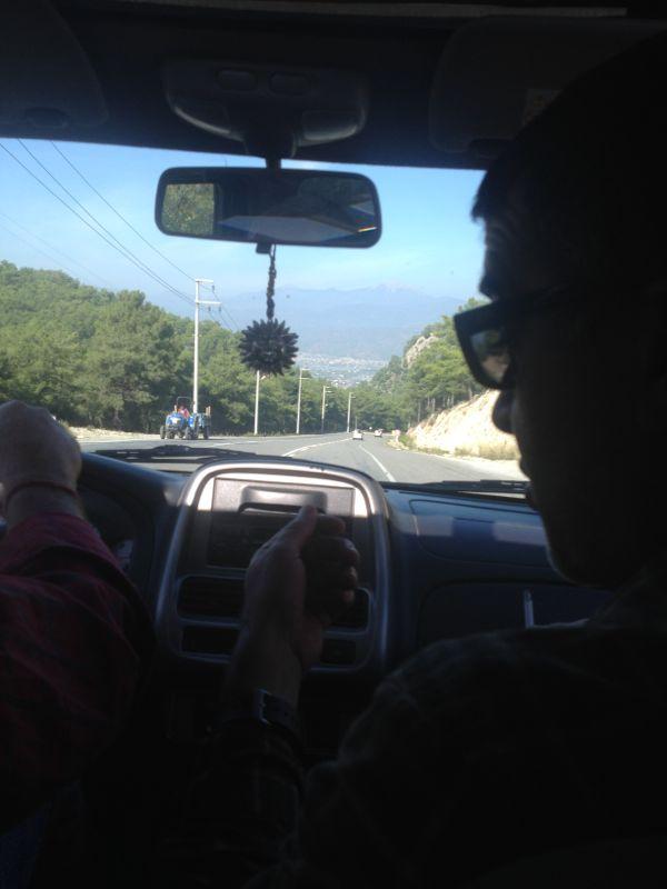 riding back