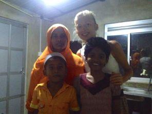 saying goodbye to Shihama, Mohan and Hanniye