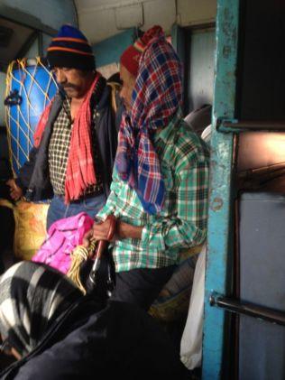 fellow passengers on the train to Delhi