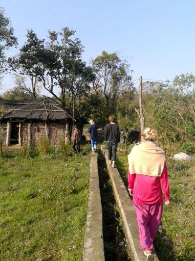 walking along irrigation canals
