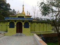 the meditation cells around the pagoda