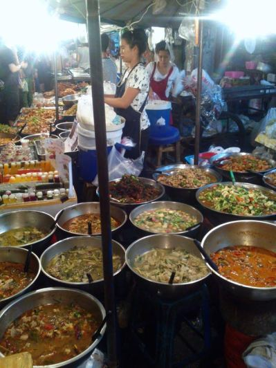 and dinner at a night market - difficult choice