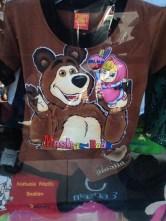 Russian cartoon merchandise everywhere