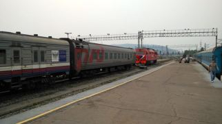 our next train, the track is now electrified