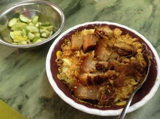 pork belly, lard and sticky rice - yumm