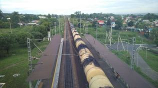 endless trains on the Trans-Siberian
