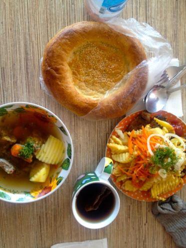 Uzbek roadside cafe with English speaking service