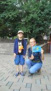 Nastya got a present to represent KZ on future trips :)
