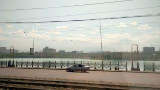 leaving Almaty - mountains!