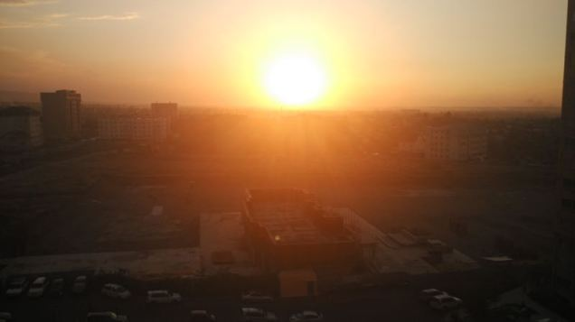 sunset over bishkek