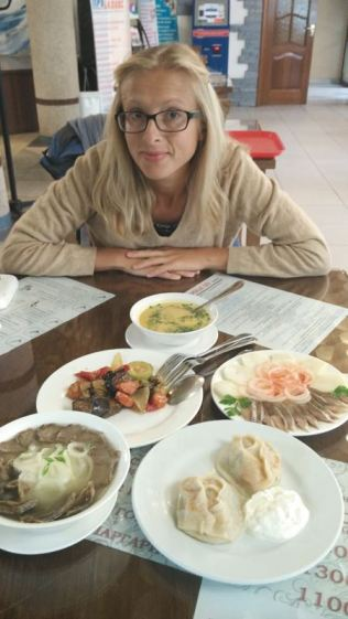 Kazakh canteen with horse meet and other delicacies
