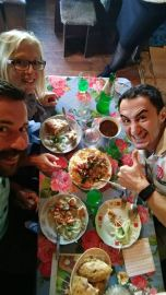 lunch at an Azerbaijan shashlik place