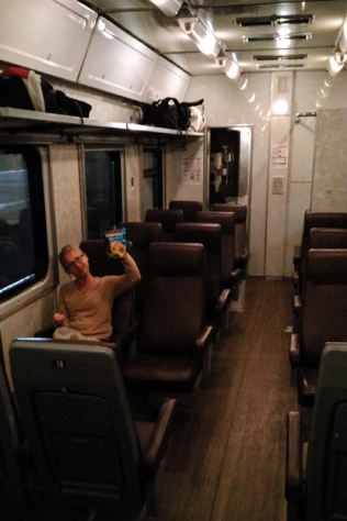 on the (cheap seeteing) night train to Piter!