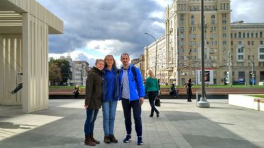 "meeting ""Czech"" friends Dima & Olya"