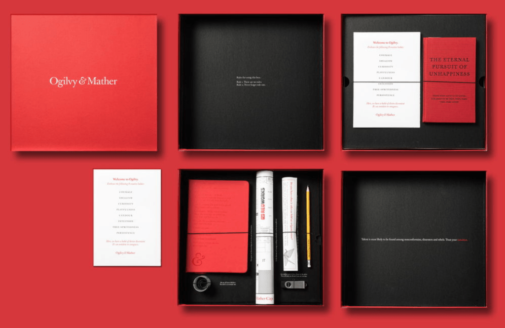 Ogilvy & Mather new hire welcome kit
