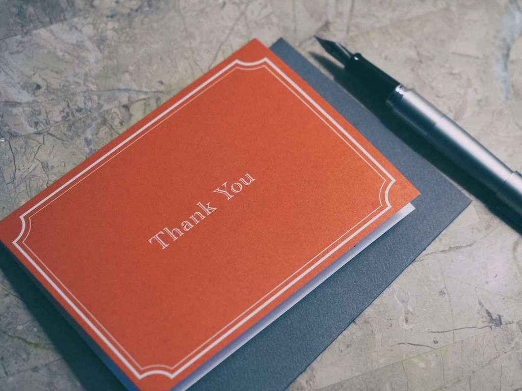 Send Thank You Card