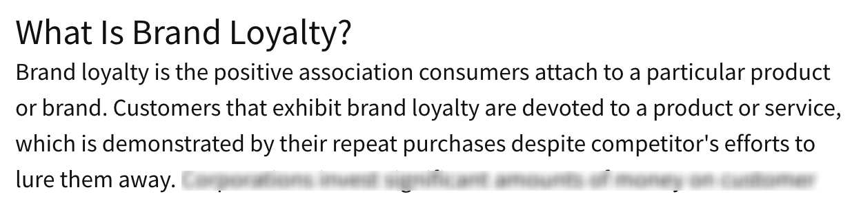 What Is Brand Loyalty Definition