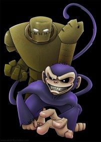 East City: Robot & Monkey t-shirt design