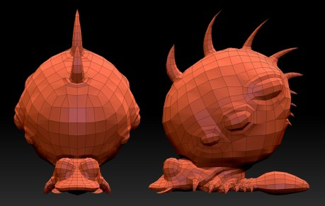"""The Snail."" CreatureBox concept: Low Poly Mesh"