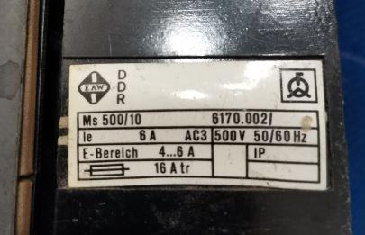 Выключатель Ms 500/10 DDR 10 A