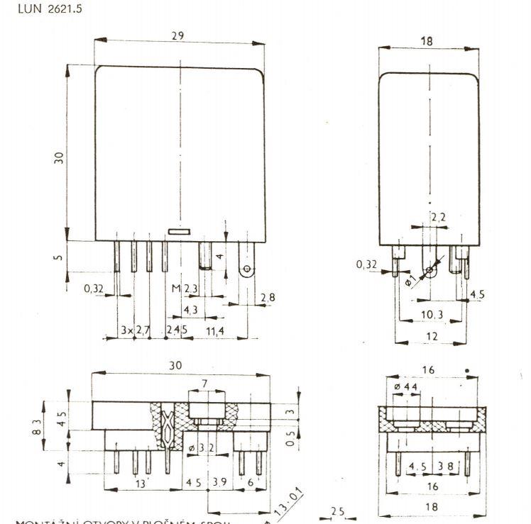 Технические характеристики реле LUN 2621.5