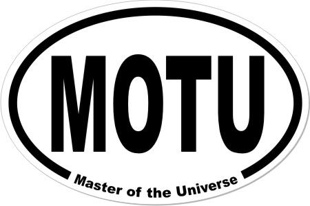 Masters of the Universe He-Man MOTU Oval Euro Decal Car