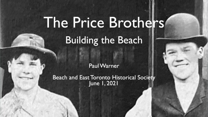 Image is the title slide from Price Brothers June 1 Zoom Talk, showing Earl and Leslie Price