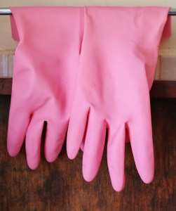 In order to clean your attic thoroughly, make sure you get rubber gloves