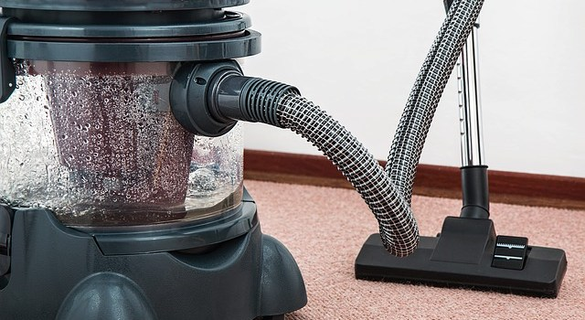Use a Vacuum cleaner to clean after moving