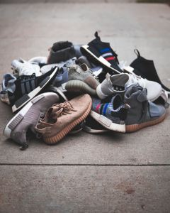 A pile of shoes.