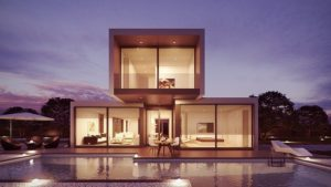 Exterior residential architecture in Kuwait.
