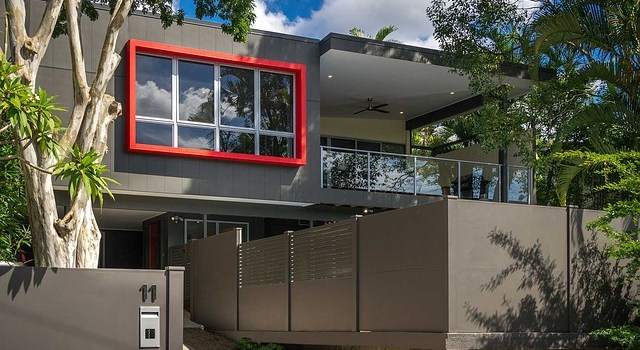 A modern house as an example of upcoming home improvement trends for 2020.