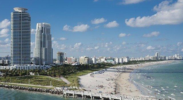 A beach in Miami.