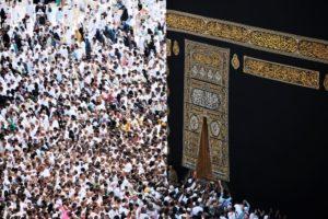 People praying in Mecca.