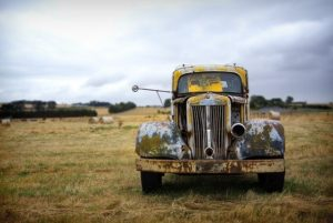 Rusted vehicle.