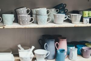 kitchen cabinets with mugs are important when organizing and decorating small apartments