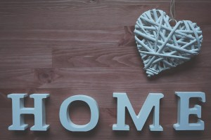 Wooden decoration home sign.