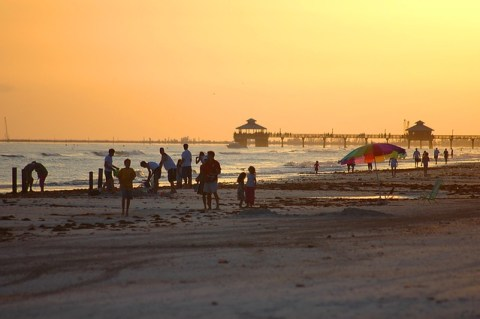 Fort Mayrs beach is one of the South Florida locations for retirees.