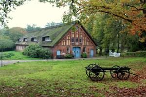 A farmhouse.