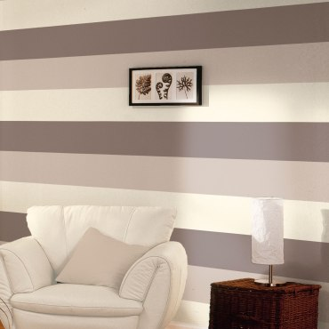 DWA054 - Stripe Wallpaper - Chocolate / Coffee / Cream - E40928
