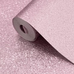 MUR069 - Muriva Textured Metallic Shimmer Wallpaper - Soft Pink 701378