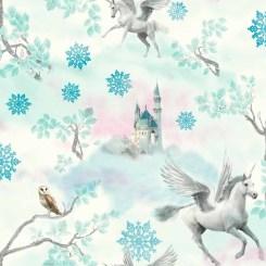 ART030 - Fairytale Unicorn Wallpaper Blue