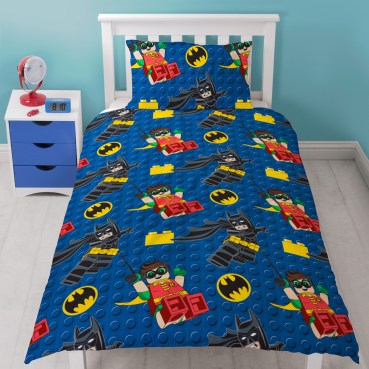 Lego Batman Movie Hero Single Duvet Cover Set - Rotary Design