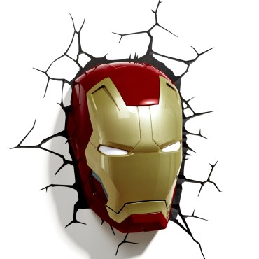 MAR047 - Marvel Iron Man Wall Light With Crack Stickers